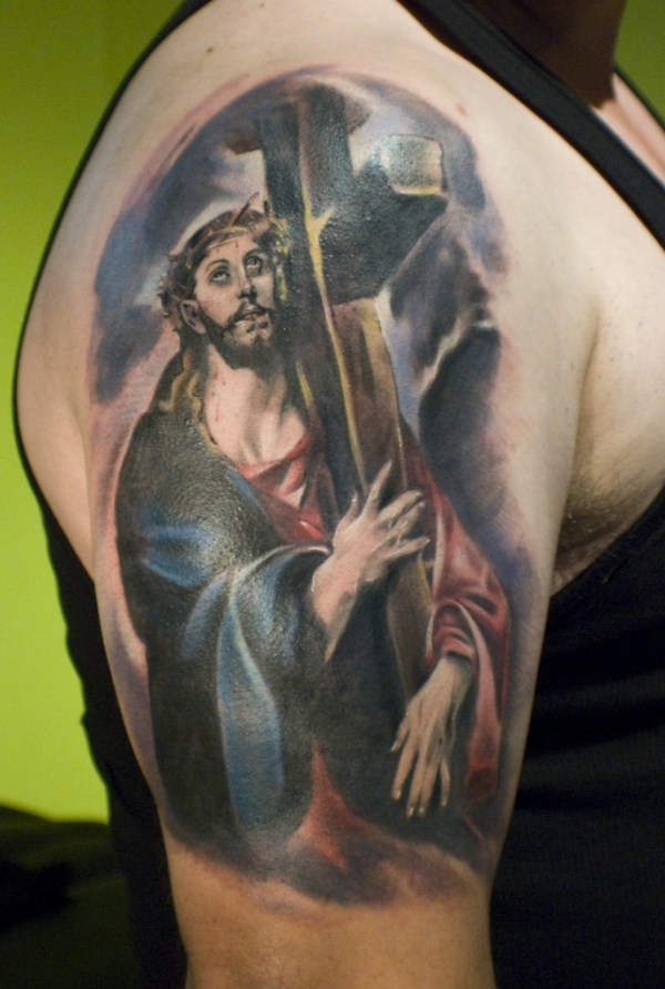 jesus inspirational tattoo 15 Holy Christian Tattoos