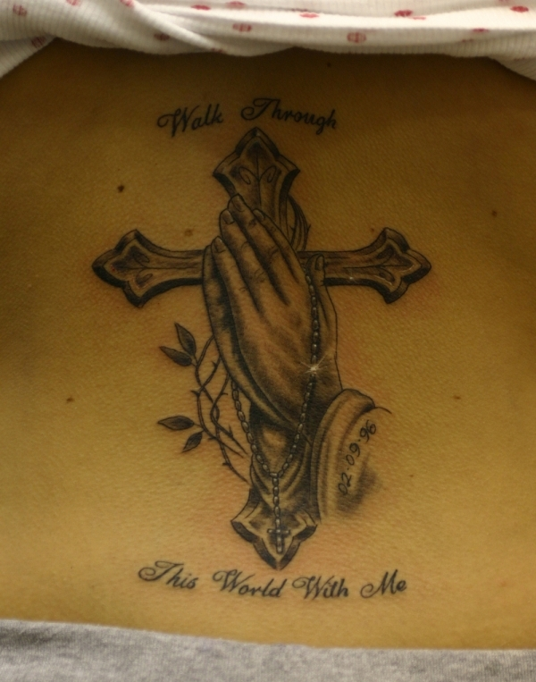 praying hands tattoo 15 Holy Christian Tattoos