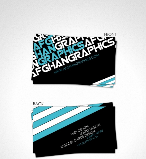 afghan graphics business card 20 Cool Business Cards For Designers