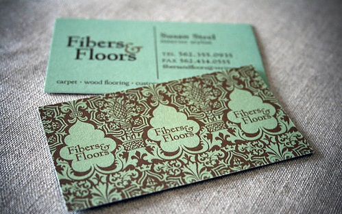 fiber and floor designers business card 20 Cool Business Cards For Designers