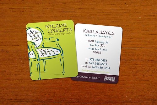 interior designer business card 20 Cool Business Cards For Designers