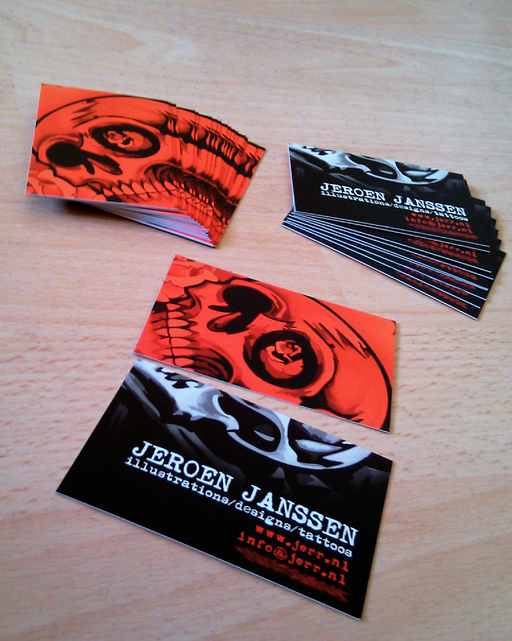 jeroen janssen 20 Cool Business Cards For Designers