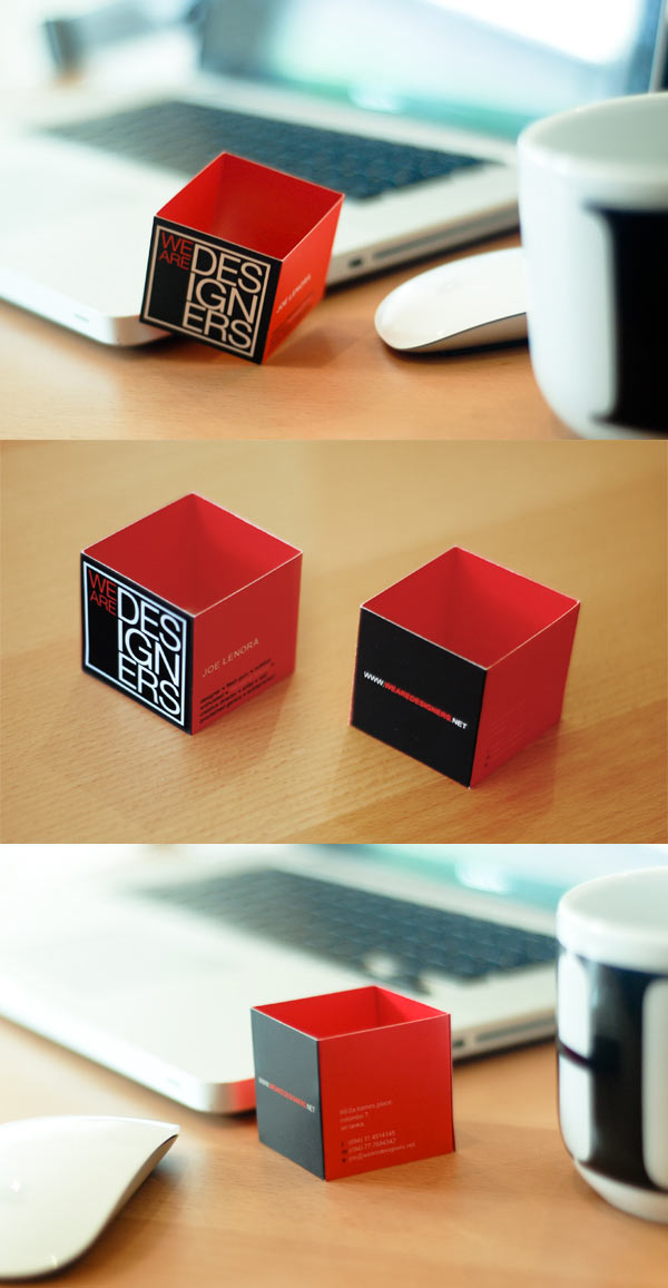 we are designers business cards 20 Cool Business Cards For Designers