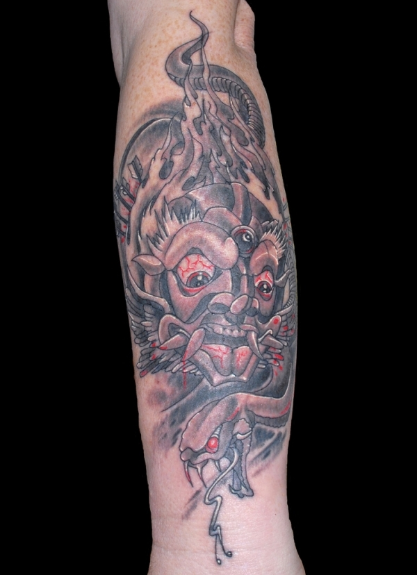 blood thirsty demon tattoo 15 Scary Demon Tattoos