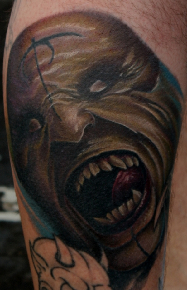 scary demon tattoo 15 Scary Demon Tattoos