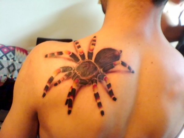 3D Spider Tattoo