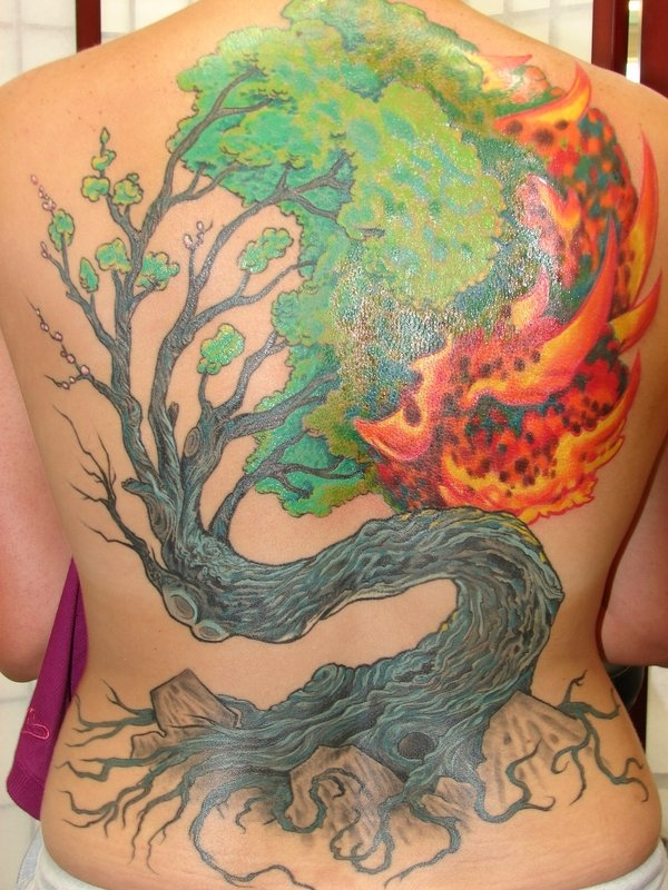 burning bush tattoo 50 Free Tattoo Designs Which Are Awesome