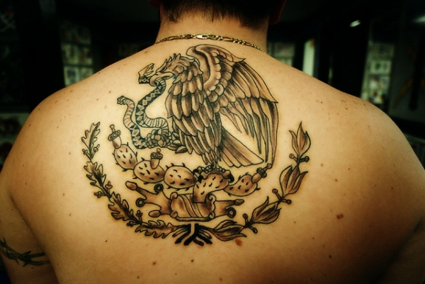 Eagle And Snake Tattoo