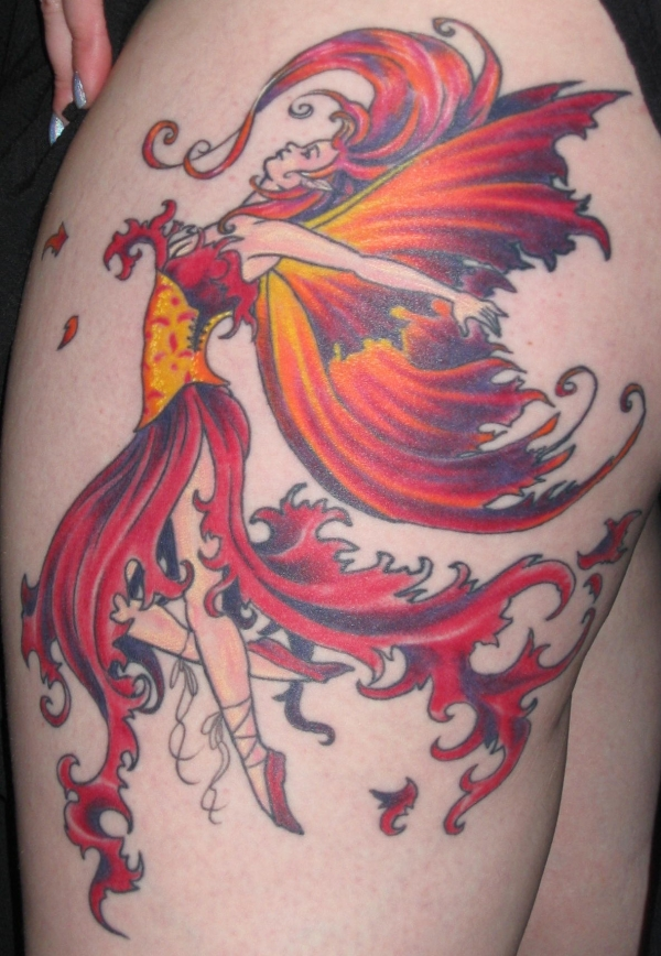 fire fairy tattoo 50 Free Tattoo Designs Which Are Awesome
