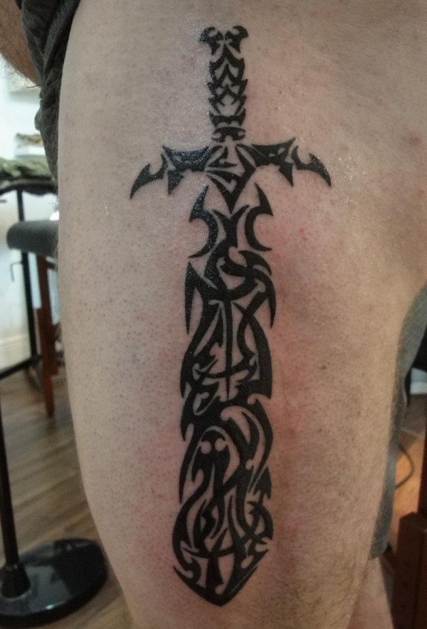 tribal sword 50 Free Tattoo Designs Which Are Awesome