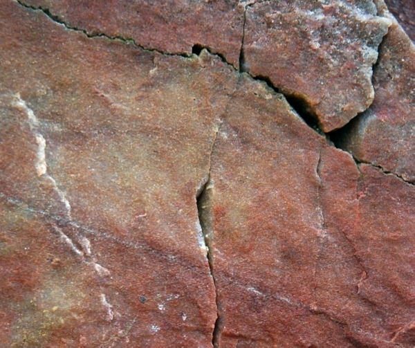 Red Rock With Cracks Texture