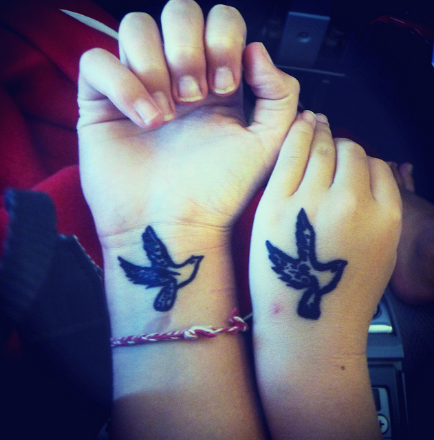 bird friends 20 Majestic Best Friend Tattoos