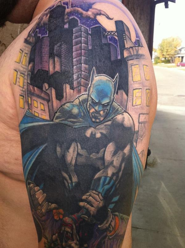 batman half sleeve 20 Half Sleeve Tattoo Designs