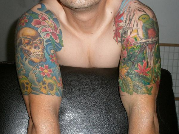 gloomy plus bright half sleeves 20 Half Sleeve Tattoo Designs
