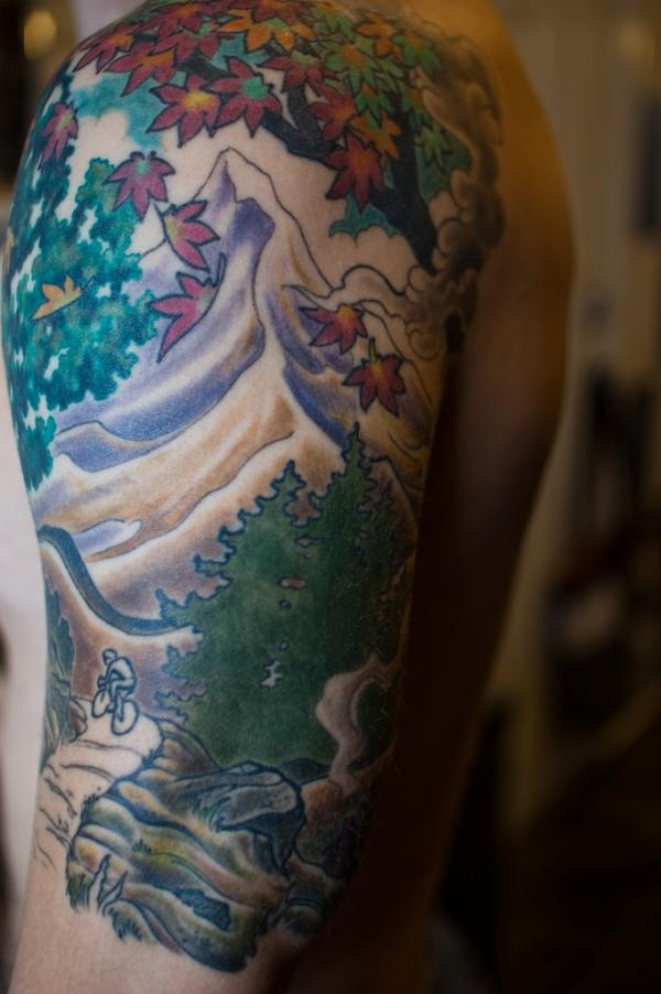 nature loving half sleeve 20 Half Sleeve Tattoo Designs
