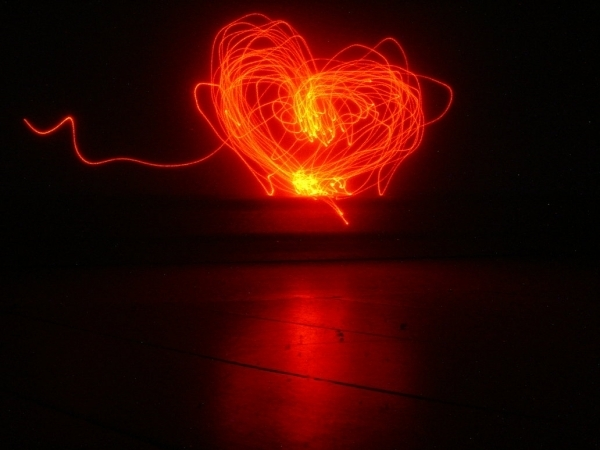 Lazer Light Heart