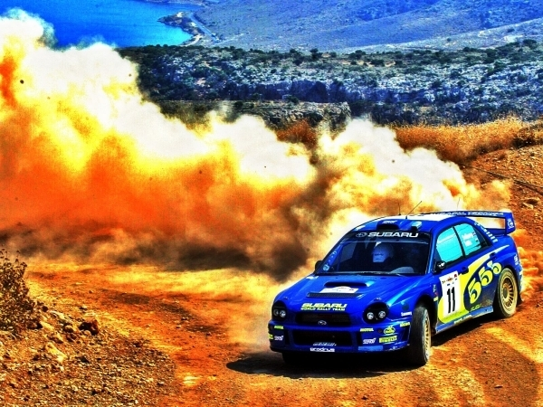 HDR Subaru Rally Car
