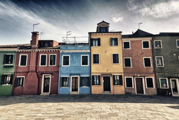 burano houses 35 Amazing Pictures of Houses