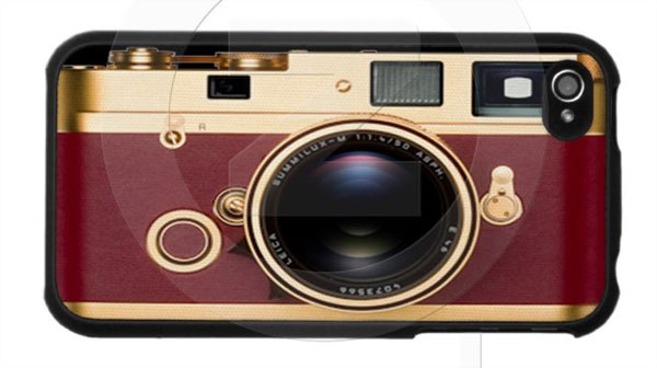 Golden Retro Camera Case