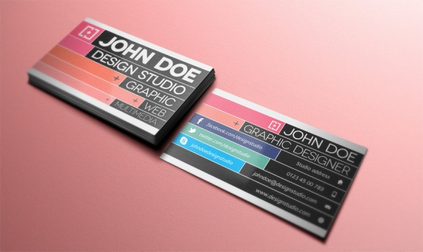 25 awesome business card designs slodive john doe business card reheart Gallery