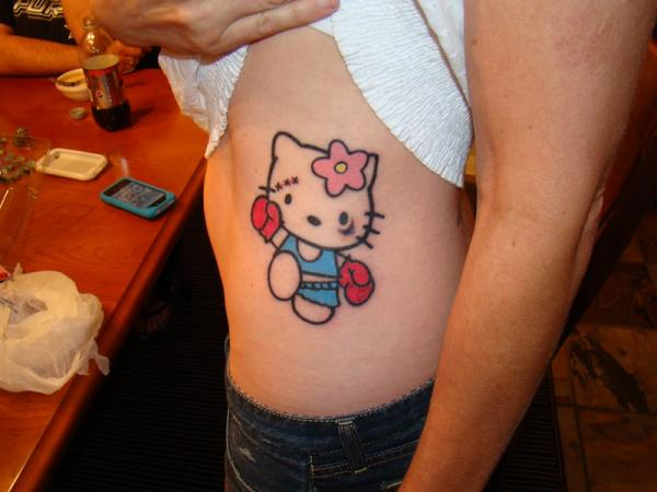 Boxer Hello Kitty Tattoo