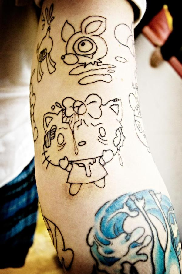 Filthy Hello Kitty Tattoo
