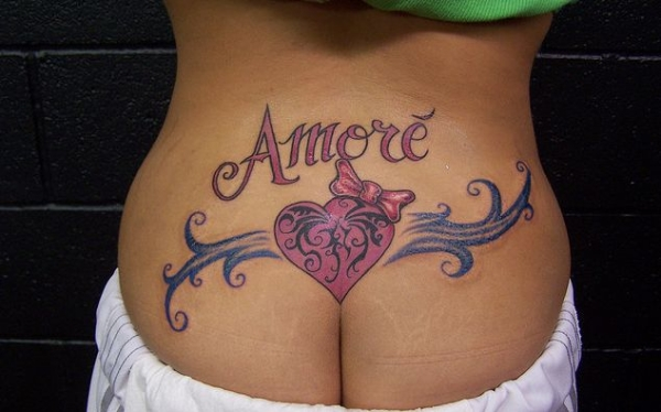 Spanish Lower Back Tattoo