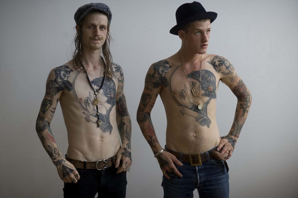 twins with same tattoo 25 Groovy Matching Tattoos