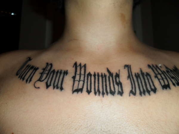 Turn Your Wounds Into Wisdom Tattoo