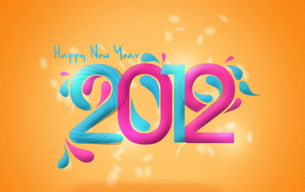2012 wall paper 30 Fantastic New Year Wallpaper Collection