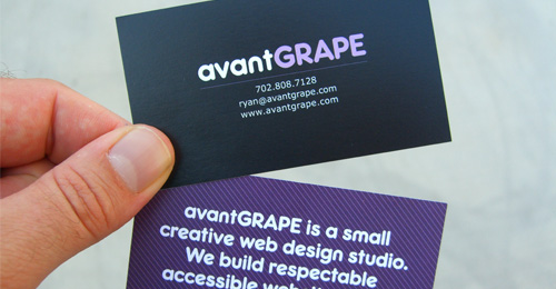 Avant Grape Business Card