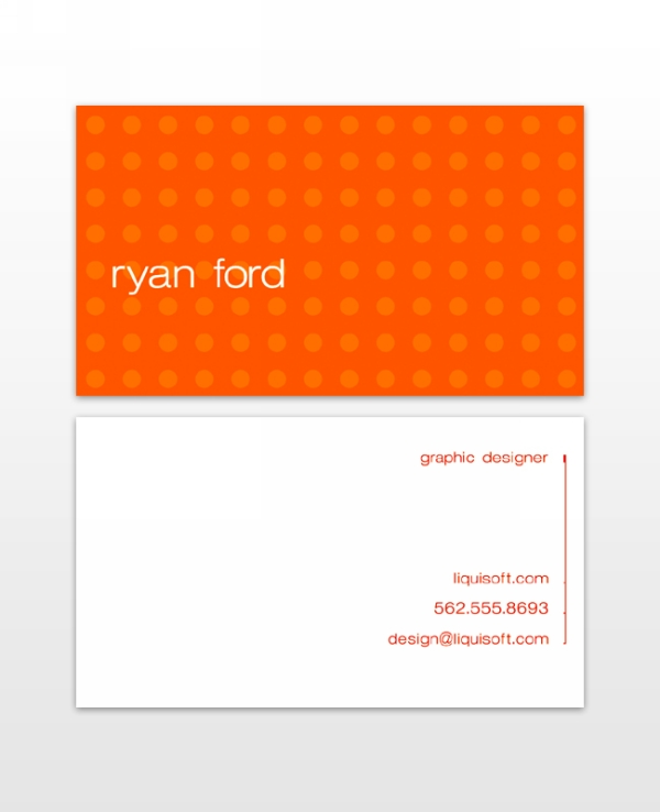 Ryan Food Business card