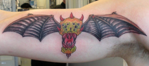 bat spider tattoo 20 Scary Spider Tattoos