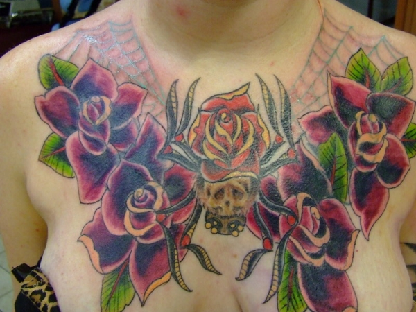 hidden demon spider tattoo 20 Scary Spider Tattoos