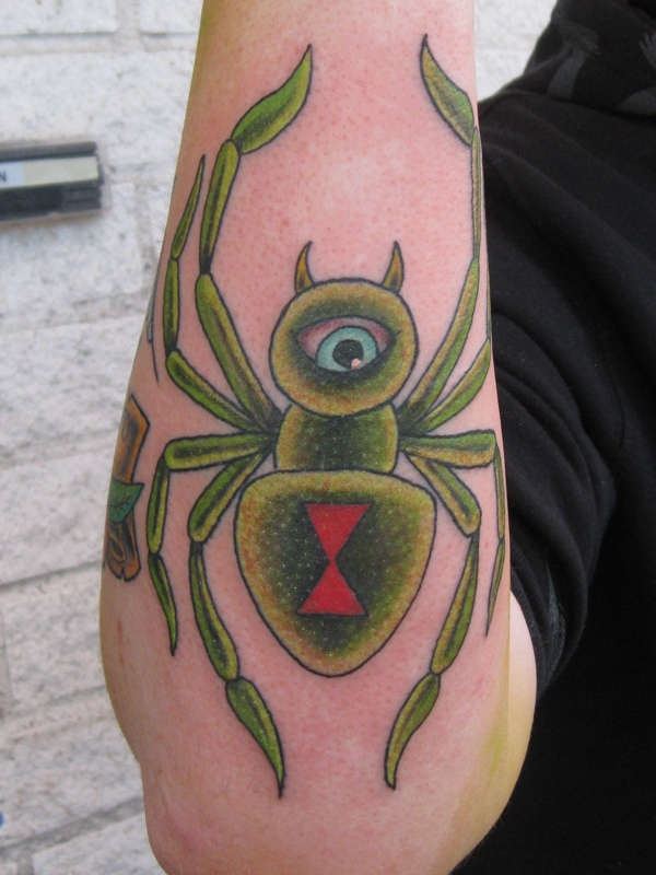 single eye scary spider tattoo 20 Scary Spider Tattoos