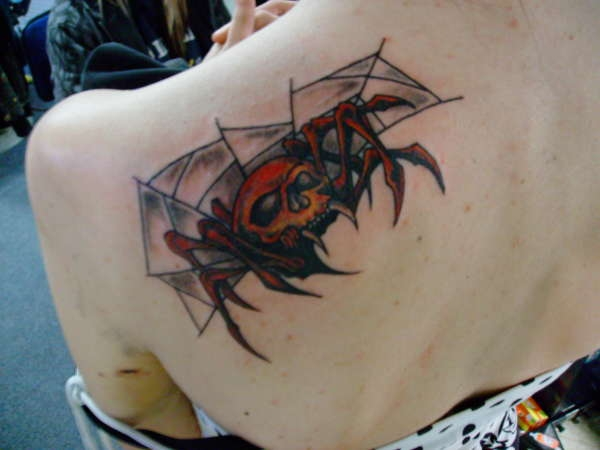 warrior spider tattoo 20 Scary Spider Tattoos