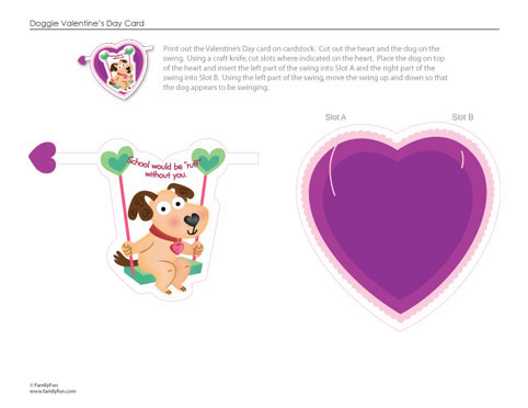 puppy card 60 Love Filled Valentine Day Cards and Backgrounds