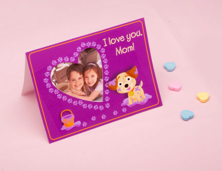 Adorable Puppy Photo Card for Mom