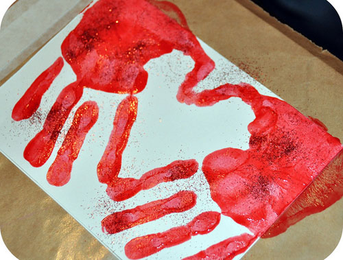 Valentine Handprint Card