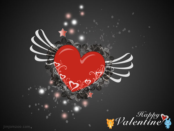 valentine heart 60 Love Filled Valentine Day Cards and Backgrounds