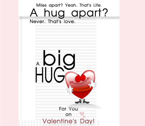valentines day hug 60 Love Filled Valentine Day Cards and Backgrounds