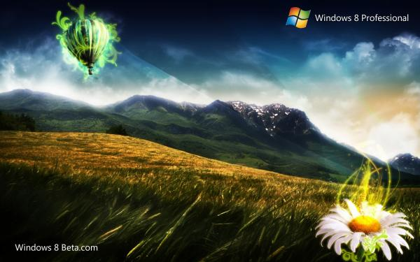 Mysterious Clouds Windows 8 Wallpaper