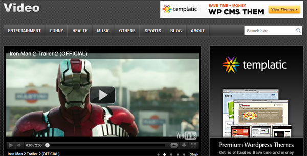 video 12 Top Free WordPress Video Themes