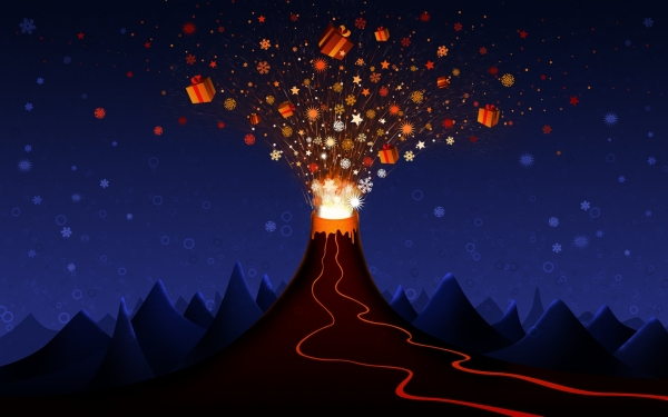 xmas volcano 30 Awesome Backgrounds