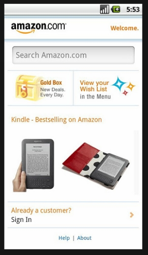 amazon mobile 40 Best Free Android Apps