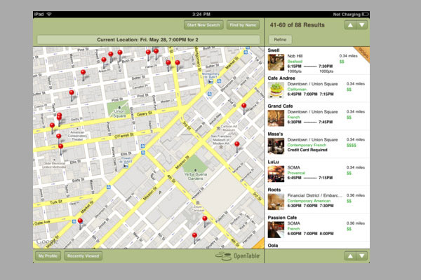 opentable 30 Best iPad Apps You Should Install Today