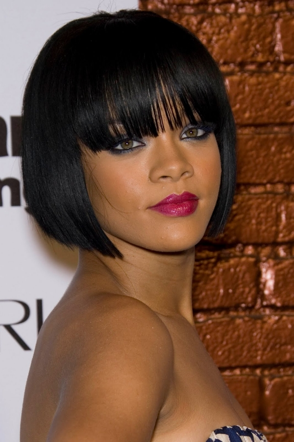 angled bob hairstyle 30 Short Hairstyles for Black Women You Will Love To Have
