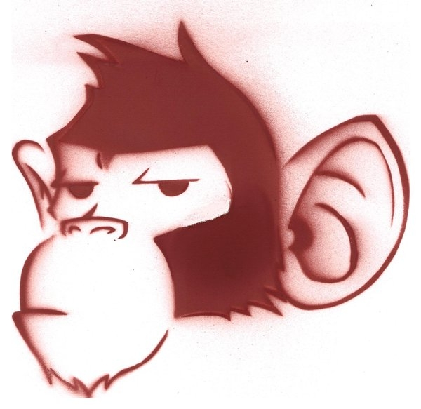 monkey stencil 25 Cartoon Monkey Pictures You Will Enjoy