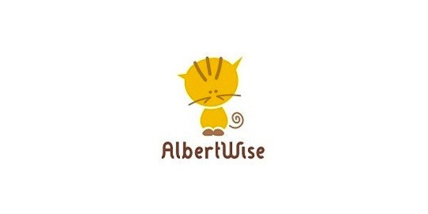 albert wise 35 Great Logos Inspired By Cats