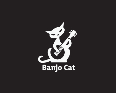 banjo cat 35 Great Logos Inspired By Cats